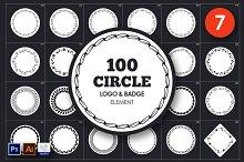 Circle Logo & Badge Element Vol.7