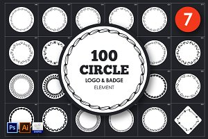 Circle Logo & Badge Element Vol.7