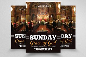 Jesus Sunday Prayer Church Flyer