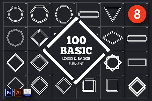Basic Logo & Badge Element Vol. 8