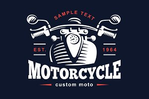 Classic Motorcycle emblem