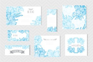 Blue Floral Cards