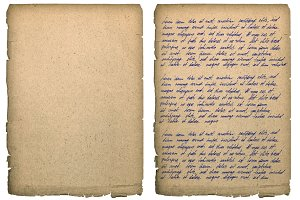 Old book page handwritten text