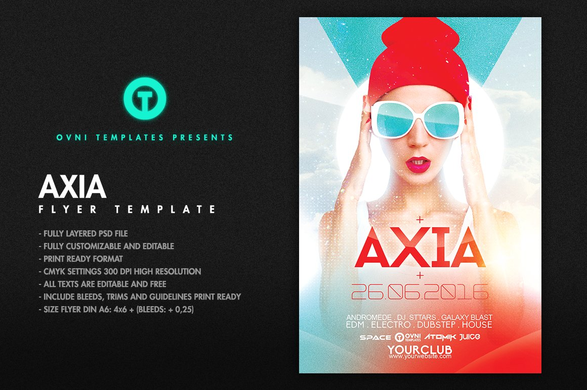 AXIA Flyer Template Templates Creative Market