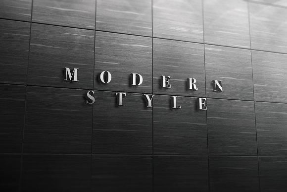 3D Logo Signage Wall Mock Up v.1 - Product Mockups
