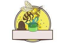 Bee Carrying Gift Box Skep Circle