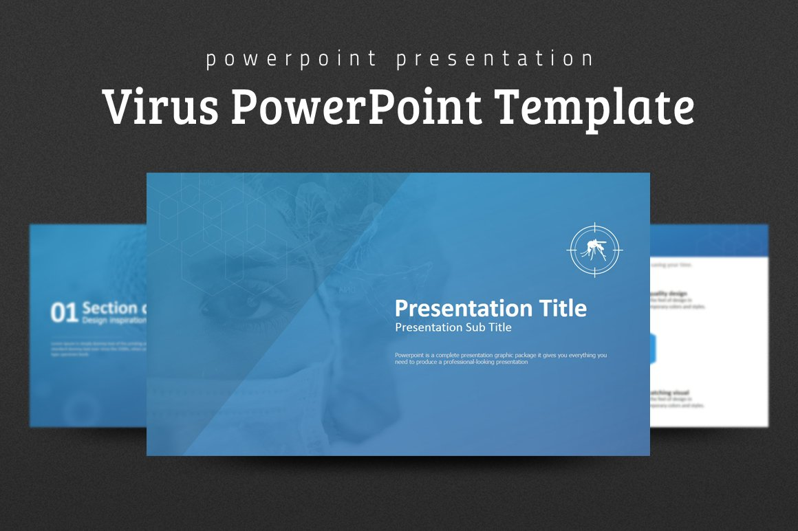 Virus Powerpoint Template Green Virus Organism Russian Influenza