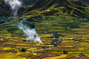 Panorama of terraced fields