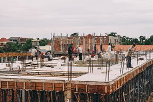 Rooftop Construction Workers