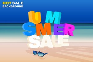 Summer Sale Typography