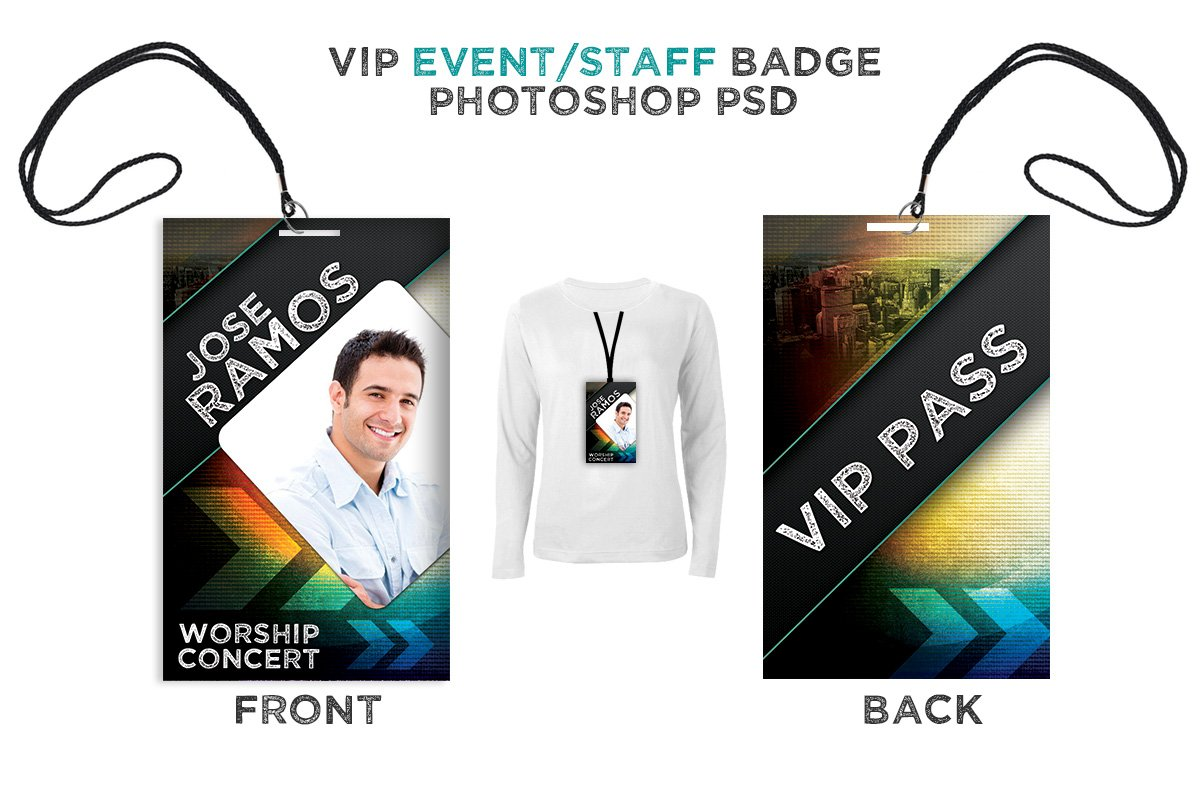 press pass vip all access pass card templates creative market. Black Bedroom Furniture Sets. Home Design Ideas