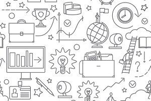 Doodle business line pattern