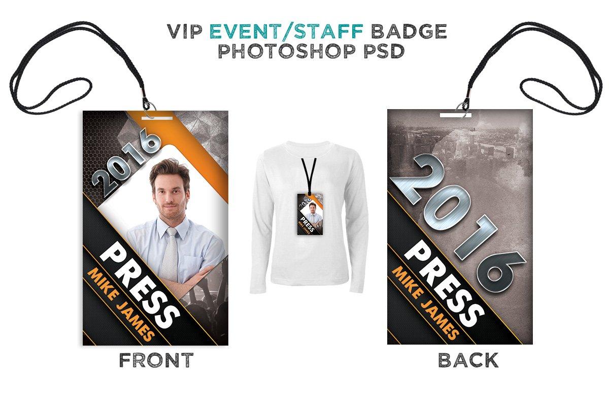 Modern Event VIP Badge
