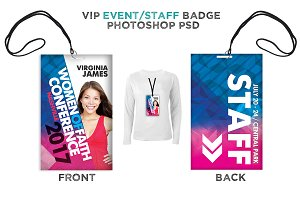 Womens Event VIP Badge