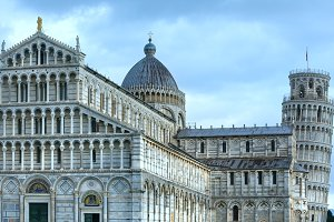 Pisa Cathedral with Leaning Tower