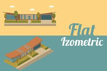 Set isometric and flat buildings 2
