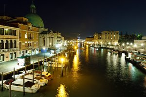 Grand Canal night view. Venice
