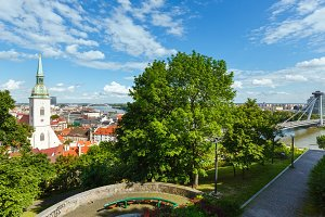 Bratislava spring view (Slovakia)