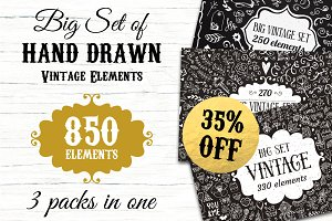 850 elements - Big Vintage Bundle