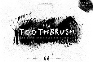 Hand-Inked ToothBrush PS Brushes
