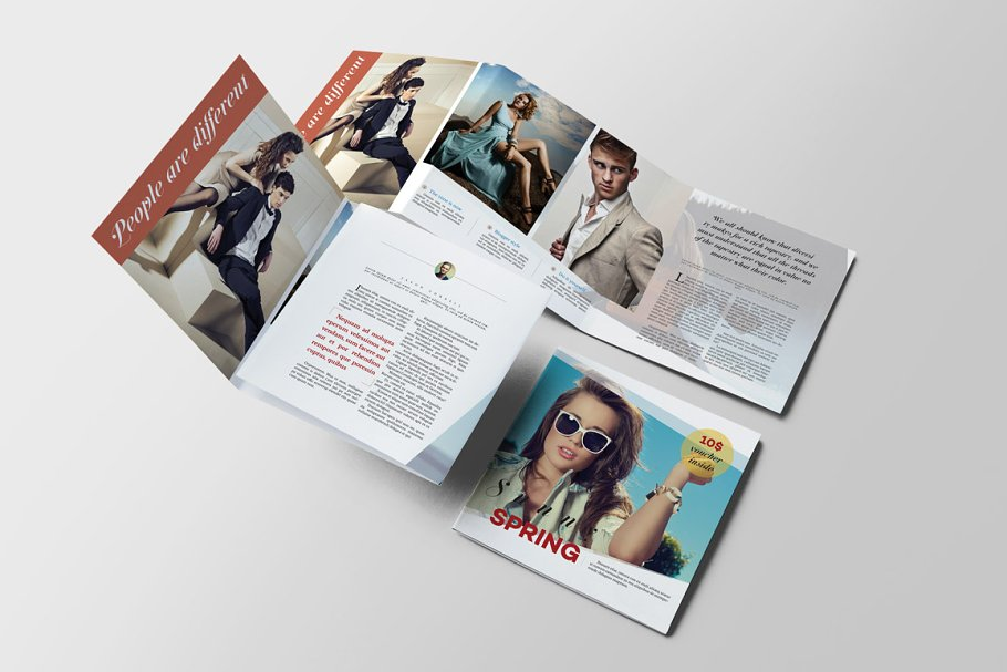 Lifestyle Fashion Brochure Brochure Templates Creative Market Pro - Fashion brochure templates