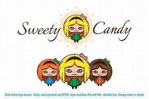 Sweety Candy Clip Art Logo Mascot