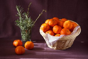 Mandarins and lavender