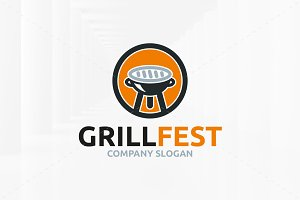Grill Fest Logo Template