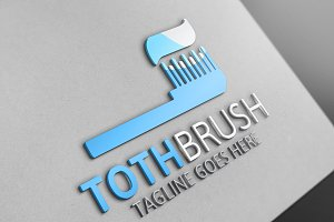 Tooth Brush Logo