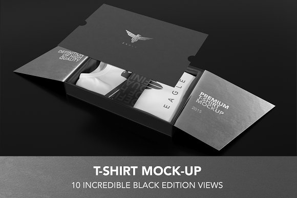 Free T-Shirt Black Edition Mock-up