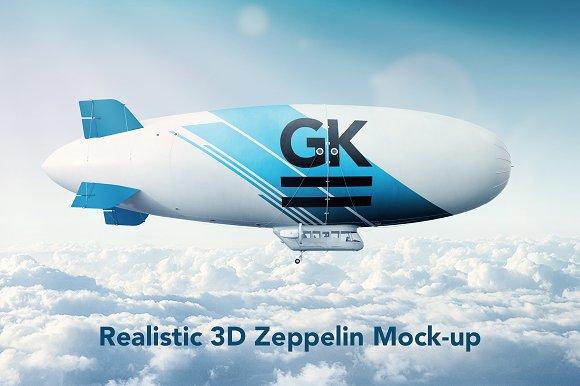 Download Realistic 3D Zeppelin / Dirigible