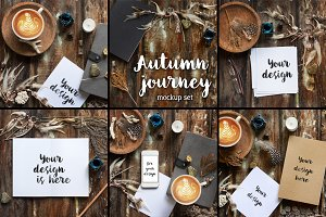 Autumn Journey. 6 Rustic mockups.