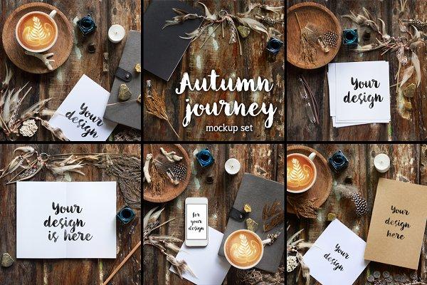 Autumn Journey. 6 Rustic mockups.