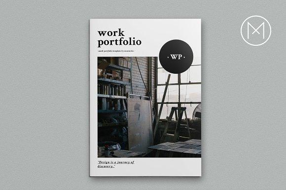 work portfolio brochure templates creative market