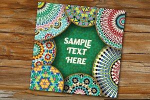 Template with Morocco Mosaic