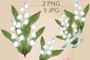 Lily of the valley flowers vintage