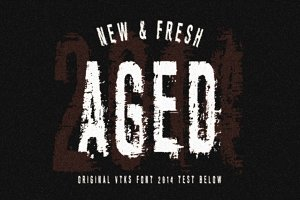 AGED font by VTKS