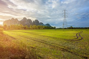 Landscape of High-voltage power line