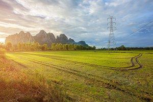 Landscape of High-voltage power line