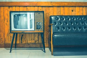retro tv turned