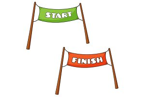 Streamers of Start and Finish