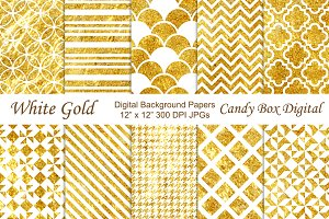 White and Gold Background Papers