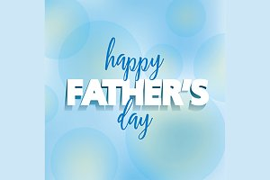 Father's Day Vector Greeting Card