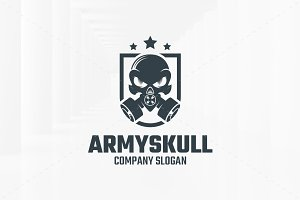 Army Skull Logo Template