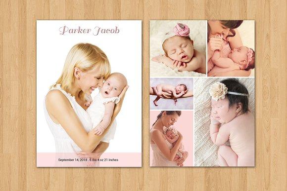 Birth Announcement TemplateV11 Card Templates Creative Market – Birth Announcement Email Template
