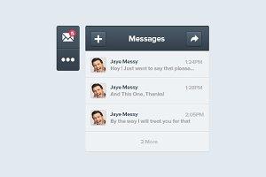 Message App Interface