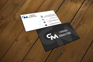 Two Business Card PSD mockups