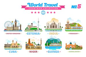 World Travel Countries Collection 5