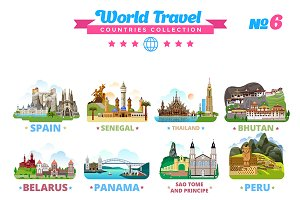 World Travel Countries Collection 6
