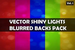 Vector shiny lights backs pack V.1